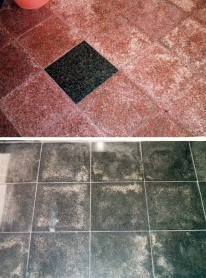 Granite's common sickness caused by salt from underneath