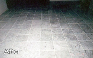 White-Carrara-after-polish-cleaned-grout-filled-crack-holes